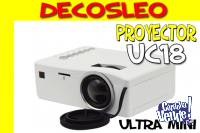 Mini Proyector Led Uc18 Unico Full Hdmi 60 Pulgadas ** Decos