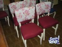 antiguo juego se sillas estilo frances