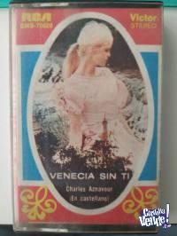 Cassette Charles Aznavour - Venecia sin ti (en castellano)