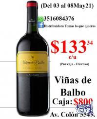 Viñas de Balbo 1,100 lts. $800 Caja.