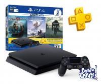 PS4 PLAYSTATION 4 1TB + 3 JUEGOS HITS FISICOS + PS PLUS