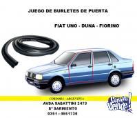 BURLETE DE PUERTA Y BAUL FIAT UNO - DUNA - FIORINO
