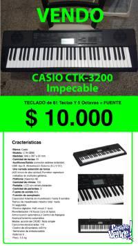 Teclado Casio (Sensitivo) CTK 3200 + fuente