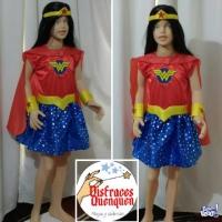 OFERTA Disfraz de Mujer maravilla para niña