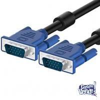Cable Adaptador de VGA a VGA, 1,5m, Negro con filtro