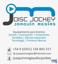 ALQUILER PROYECTOR Y PANTALLA GIGANTE -EVENTOS DJ-JOAQUIN M