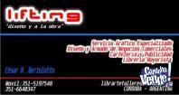 Lifting... Grafica Especializada, Comunicacion Visual, Publi