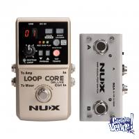 Pedal Nux Loop Core Deluxe Bundle Con Foot Switch 24 Bit