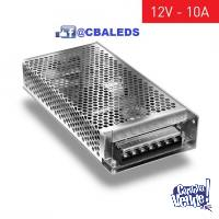 FUENTE SWITCHING 12V 10A METALICA IP20 INTERIOR
