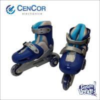 Rollers Extensible 3 Ruedas! 2 En 1! Cencor Electrónica