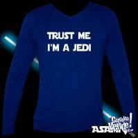 Remera Mangas largas Azul Estampa Jedi