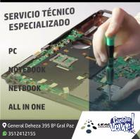 SERVICIO TECNICO DE PC NOTEBOOK NETBOOK ALL IN ONE CORDOBA
