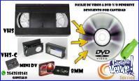 PASAJE VHS VHS-C 8MM y Mini DV