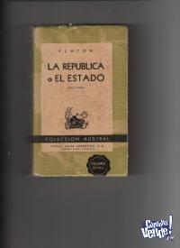 LA REPUBLICA O EL ESTADO   Platon  5ª edicion  $ 200