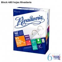 Caja de hojas - RIVADAVIA- 480 hojas rayadas