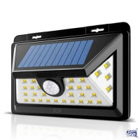 Reflector Solar Led 6w 30 Led Sensor Movimiento Farol Jardin