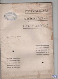 CONVENCIONES NACIONALES DE LA U:C:R. 1933/34  $ 890