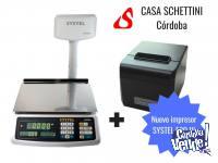 Balanza Systel Croma 30kg + Impresor ticket ECO Garanía Ser