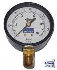 Manómetro para compresor