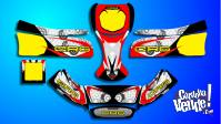 Kit Calcos Karting Crg 2014 Laminado 3m Grueso Brillante