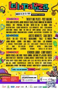 3 Days Pass Lollapalooza Arg 2019