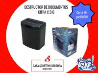 Destructora trituradora documentos papel Cifra C516 Córdoba