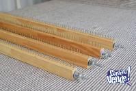 Telar bastidor de madera con clavos, regulable, 70x70