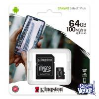 Memoria Kingston 64GB Clase 10  100MB/s MicroSD + Adap SD