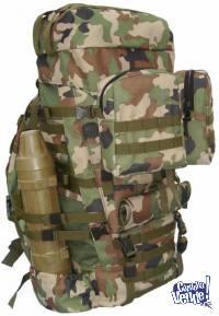 Mochila Tecnica Militar 80 Litros Ilbe+2 Pouches - 3 Colores