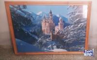 Vendo 2 cuadros enmarcados, de lámina original del castillo Neuschwanstein (Alemania), con distintas