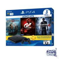 Play Station 1tb + Uncharted 4 + God Of War + Gran Turismo