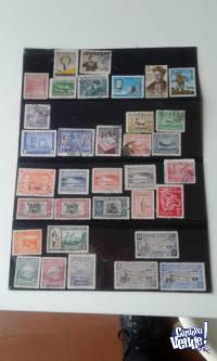 34 ESTAMPILLAS ANTIGUAS DE BOLIVIA  desde 1944 a 1962 $ 1200