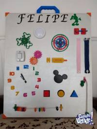 Tablero Didáctico Panel Montessori Para Bebes y Niños