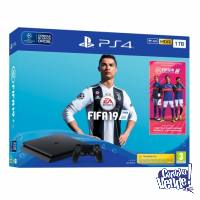 Playstation 4 Ps4 Sony 1tb Slim Edi Fifa 2019 Fisico Centro!
