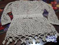 Remera importada tejida a mano en hilo centroamerica con eti