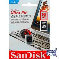 Pendrive Sandisk Ultra Fit 16gb Usb 3.1 130mb/s *LOCAL*