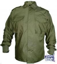 Camisa De Fajina Modelo Ejercito- Rip Stop -VERDE MILITAR