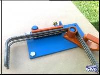 Dobladora de estribos hierro de 4 mm a 12mm maquina