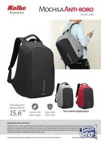 Mochila Antirrobo Kolke Porta Notebook + Usb Impermeable