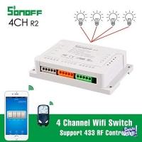 Domotica Sonoff Wifi 4ch R2 Riel Din Tablero Automatizacion