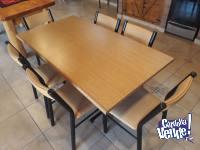 Juego de comedor, mesa y sillas
