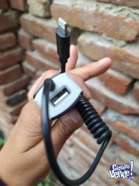 cargador para auto  3.1 carga rápida IPhone