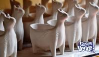 Maceta llama cerámica