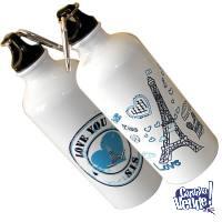 Botellas deportivas de aluminio sublimadas con tapa!!!