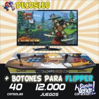 *** CONSOLAS RETRO DOBLE PALANCAS + FLIPPER 12.000 juegos