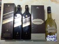 BOTELLAS VACIAS DE WHISKY, LICOR Y RON