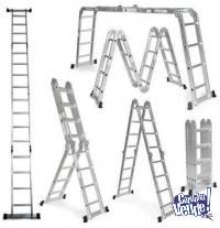 Escalera Articulada Multifunción De Aluminio - Luxom 4x4