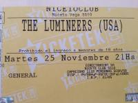 Entrada The Lumineers Niceto Club 25 de Noviembre