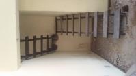 Escalera estructura de hierro en dos tramos con 16 escalones de madera ancho 670  desarrollada