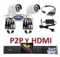 DVR + 2 Cámaras Seguridad Vga P2P SudVision OFERTA